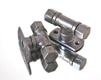 Mulqueen Pair of Industrial Polished Steel Drawer/Door Handles/Commercial Fixtures and Fittings www.urbangrain.co.uk