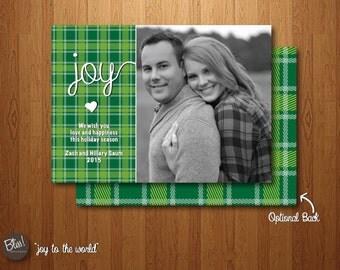 Printable Christmas Card - Photo Christmas Card – Joy to the World
