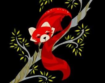 Red Panda Print