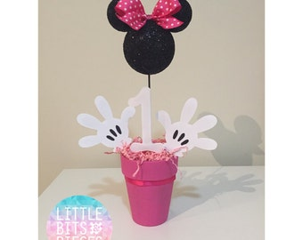 Minnie Mouse Centerpieces 1st Birthday