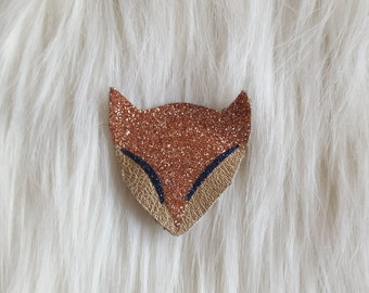 PIN Fox Golden leather