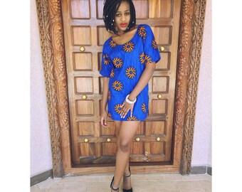 African Print Hand Made Dress