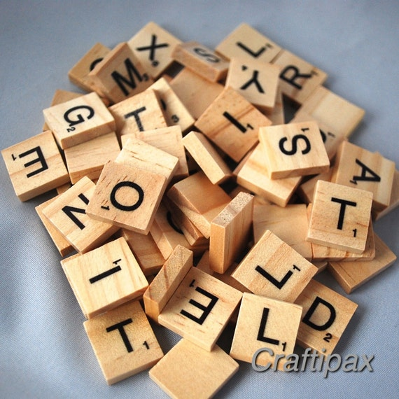100 wooden letter scrabble tiles scrapbooking craft uk