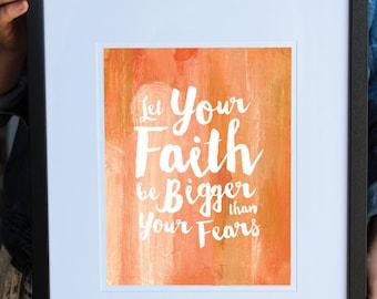Inspirational Quote Print, Faith Art Print, Inspirational Print, Wall Art, Quote, Nursery, Office