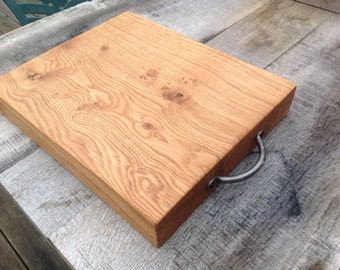 Chunky oak chopping/cutting board, food serving platter or cheese board