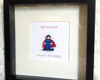 Lego fit Superman Superdad Frame