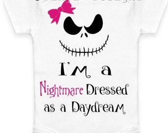 Nightmare before Christmas-Nightmare Dressed like a Daydream Girls Onesie Various Colors