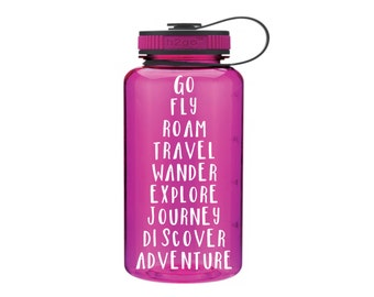 Travel water bottle 34 oz