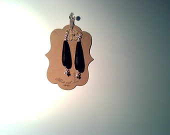 Black onxy earrings with sterling silver