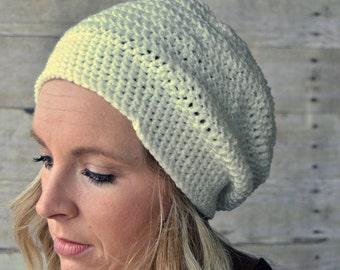 Womens slouchy crochet hat, womens slouch beanie, slouchy hat, winter hat, Boho, Winter fashion,