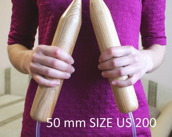 Giant Knitting Needles,Giant needles,Super Big knitting needles, wooden knitting needles,Super Giant needles (50-40-30-25mm)