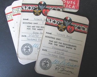ONE Boy Scout Vintage Merit Badge 1954