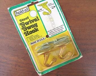 Swivel Swag Hook Vintage Steel Hook NOS Original Packaging AmTac