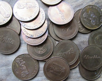 Antique Car Coin Collection Sunoco Automobile Collectible Coin