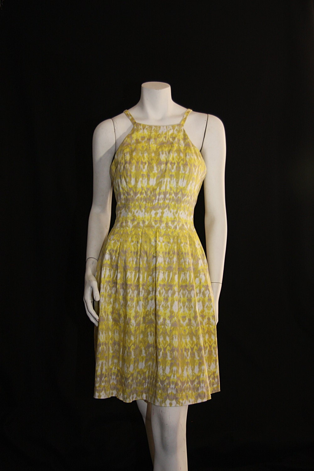 calvin klein sundress in pale yellow cotton