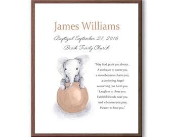 Art For Baby Baptism, Gift For Christening, Dedication Art Gift, Naming Day Art