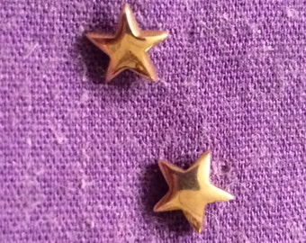 Vintage Gold star earrings
