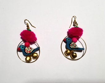 Earrings; Indian,Handmade Beautiful Colourful Earrings