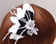head black Bridal Jewelry - Wedding-Balia-black bridal adornement-hairstyle wedding hairstyle-Bridal jewelry French - clip hair