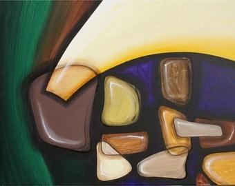 Original Abstract Art, Series R: Stones 4