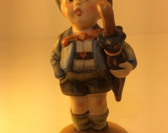TMK2 Vintage Hummel Boy . Home From Market. Antique Hummel Goebel. 198 2/0...  50% OFF SALE!!