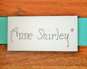 10 Hand Written Place Cards
