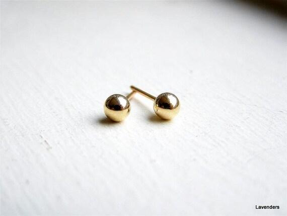 gold stud earring cartilage earring gold dot stud
