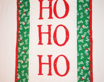 ON SALE! Ho ho ho! Quilted Wall Hanging/Table Runner