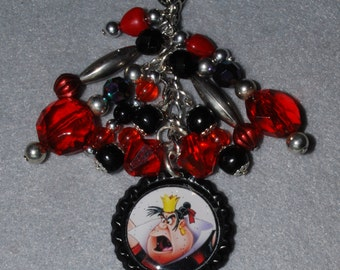 Queen Of Hearts Inspired Purse Charm