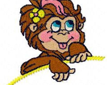 Embroidery design MONKEY