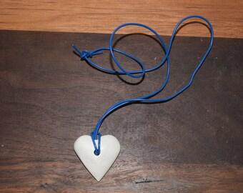 Large soapstone Heart Pendant/ Soapstone Necklace