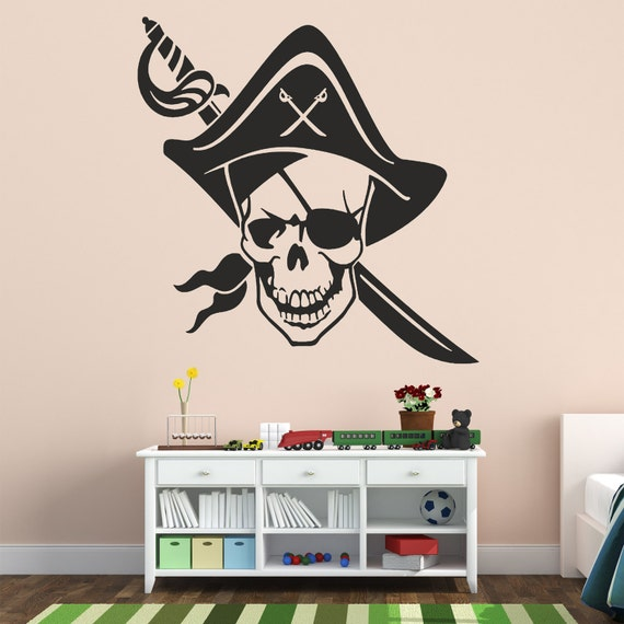 Pirates Kids Wall Decal: Pirate's Life Wall Decal Pirate Wall Vinyl Pirate's