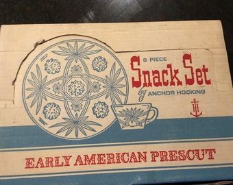 Early American Prescot Snack Set