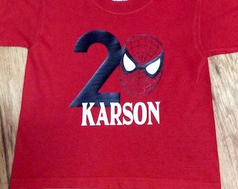 Spider-Man Birthday Shirt, Spider-Man Vinyl Shirt, Boys Spider-Man Shirt, Birthday Shirt