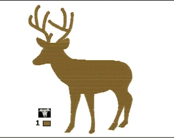 Stag Silhouette Mini Embroidery Designs in 5 sizes