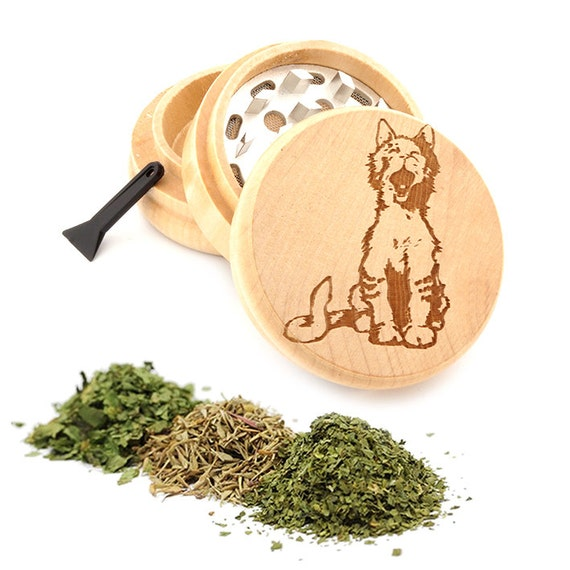 Cute Cat Engraved Premium Natural Wooden Grinder Item # PW050916-81