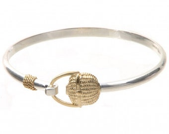 Cape cod Nantucket Basket Bracelet Sterling Silver 925-Rhodium Gold