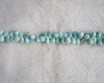 Larimar Faceted Drops