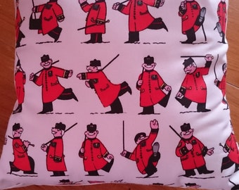 Handmade cushion cover ' A chelsea pensioner fabric'