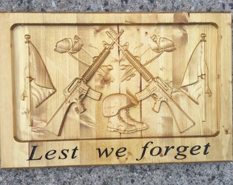 Patriotic Memorial Plaque