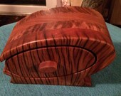Beautiful hand made wooden curio box for your trinkets treasures and jewellery.