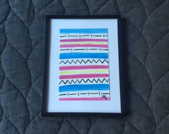 Beach Blanket - Pink/Blue