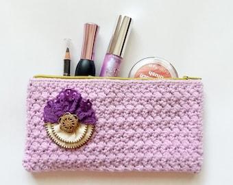 Crochet Pouch, Zipper pouch, Crochet Purse, Crochet Clutch, Makeup Bag, Phone Case, Sunglasses Case, Pencil Case, Travel Pouch