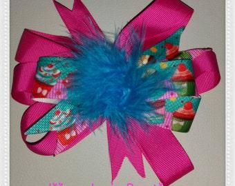 Cupcake hair bows
