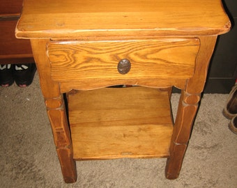 1940's Monterey Furniture Signed End Table Nightstand! #BV