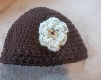 Brown adult large hat