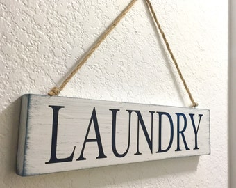 Wooden Laundry sign, Laundry Room Decor, Hanging sign