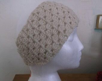 Discounted. Sale!Crochet Headband. White head Band. Boho. Boho Headband. Granny Square Head Band. Winter Head Band. Ear Warmer. White. Cream