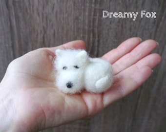 Needle felted West Highland White Terrier