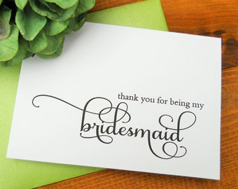 Thank You for being my BRIDESMAID Card, Bridesmaid Card Thank You, Bridesmaid Thank You Card, Bridesmaid Card, Bridesmaid Thank You Gift